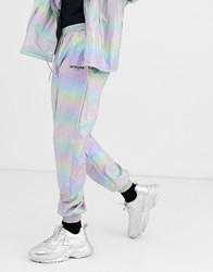 Sixth June Holographic Reflective Track Pant Silver