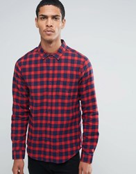 Another Influence Checked Shirt Red