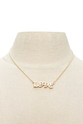Forever 21 Love Chain Necklace Gold