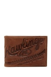 Rawlings Sports Accessories Fielder's Choice Front Pocket Leather Wallet Brown