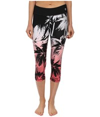 Trina Turk Palm Beach Mid Length Leggings Tigerlily Women's Workout Pink