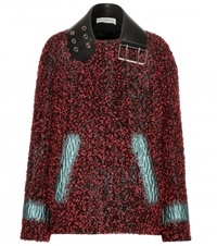 Balenciaga Mytheresa.Com Exclusive Boucle Wool Blend Jacket Red