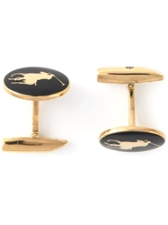 Polo Ralph Lauren Logo Detail Cufflinks Black