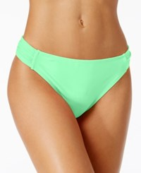 California Waves Side Tab Cheeky Bikini Bottoms Women's Swimsuit Aqua Mint