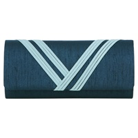 Jacques Vert Banded Detail Bag Mid Blue