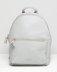 Ted Baker Mollyyy Soft Leather Backpack Grey