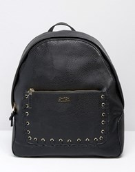 Faith Exclusive Whipstitch Pocket Backpack Black