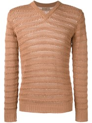 Nuur Ribbed Trim Jumper Nude Neutrals