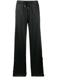 Versace Track Palazzo Trousers Black