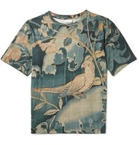 Dries Van Noten Hague Slim Fit Printed Cotton Jersey T Shirt Petrol