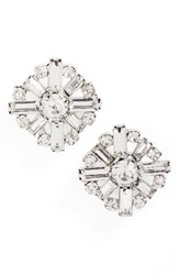 Cara Women's Crystal Cluster Earrings