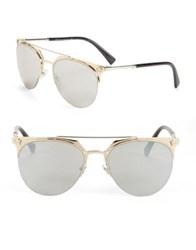 Versace Clubmaster Mirrored Sunglasses Pale Gold