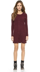 Madewell Elin Cable Sweater Dress Logan Berry