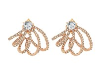 Alexis Bittar Crystal Lace Orbiting Post Earrings Rose Gold Earring