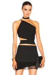 Michelle Mason Asymmetrical Bandeau Top In Black