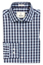Men's Big And Tall Todd Snyder White Label Trim Fit Check Dress Shirt Blue
