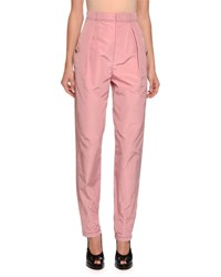 Bottega Veneta Gigi Faille High Waist Pants Pink