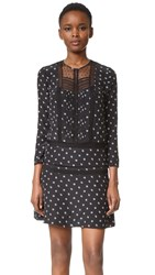 Veronica Beard Jasmine Lace Inset Boho Dress Black