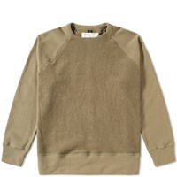 Mr. Completely Reverse Front Crew Sweat Green