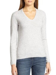 Brunello Cucinelli Cashmere Elbow Patch Sweater Vanilla