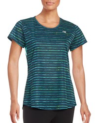 New Balance Striped Athletic Tee Galaxy