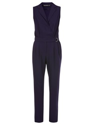 Sugarhill Boutique Belted Jumpsuit Navy