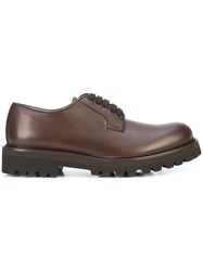 Paul Andrew Lace Up Shoes Calf Leather Goat Skin Leather Suede Brown