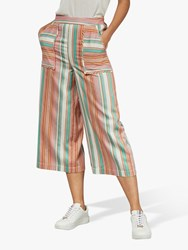 Ted Baker Colour By Numbers Cearaa Candy Stripe Trousers Orange