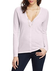 Lord And Taylor Spring Cashmere V Neck Cardigan Lavender