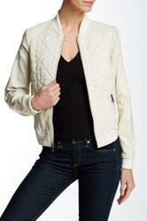Andrew Marc New York Scout Leather Jacket White