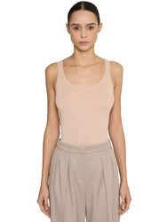 Max Mara Silk And Cashmere Knit Tank Top Nude
