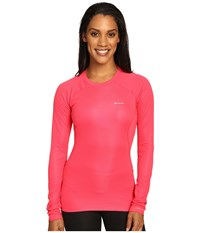 Columbia Heavyweight Ii Long Sleeve Top Punch Pink Women's Long Sleeve Pullover Red