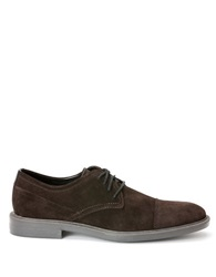 Calvin Klein Upton Suede Oxfords Dark Brown