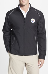 Cutter Buck 'Pittsburgh Steelers Beacon' Weathertec Wind And Water Resistant Jacket Big And Tall Black