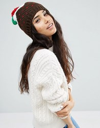 Boardwalk Boardmans Sequin Christmas Pudding Beanie Hat Black