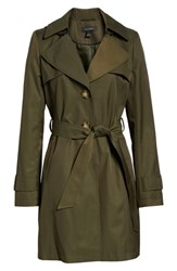 Halogen Hooded Trench Coat Olive