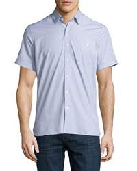 Neiman Marcus End On End Short Sleeve Shirt Stone Grey