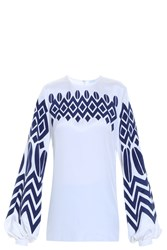 Andrew Gn Aztec Blouse White