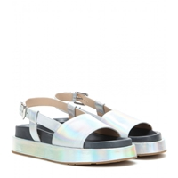 Jil Sander Holographic Leather Sandals