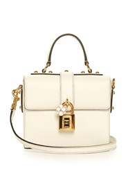 Dolce And Gabbana Soft Leather Cross Body Bag White