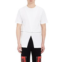 Hood By Air Men's Crossover Front T Shirt White