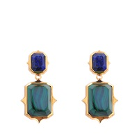 Isharya Rani Rocks Lapis Malachite Earrings