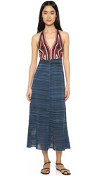 Rachel Comey Crochet Halter Dress Multi