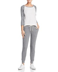 Alternative Apparel Snug Long Pajama Set Eco Ivory Eco Gray