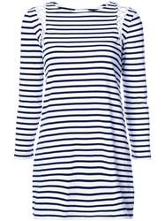 A.L.C. Striped T Shirt Dress Women Cotton S White