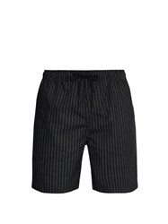 Saturdays Nyc Timothy Striped Swim Shorts Black