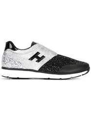 Hogan Glitter Slip On Sneakers Black