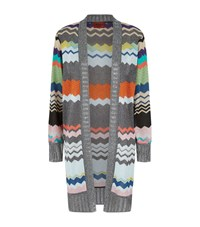 Missoni Lurex Zig Zag Stripe Cardigan Female Multi
