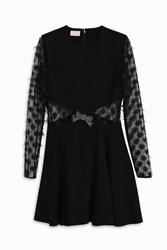 Giamba Bow Dress Black