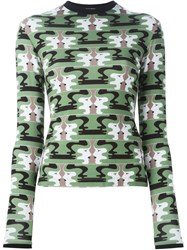 Holly Fulton Face Print Longsleeved Top